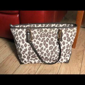 Cheetah print Coach tote